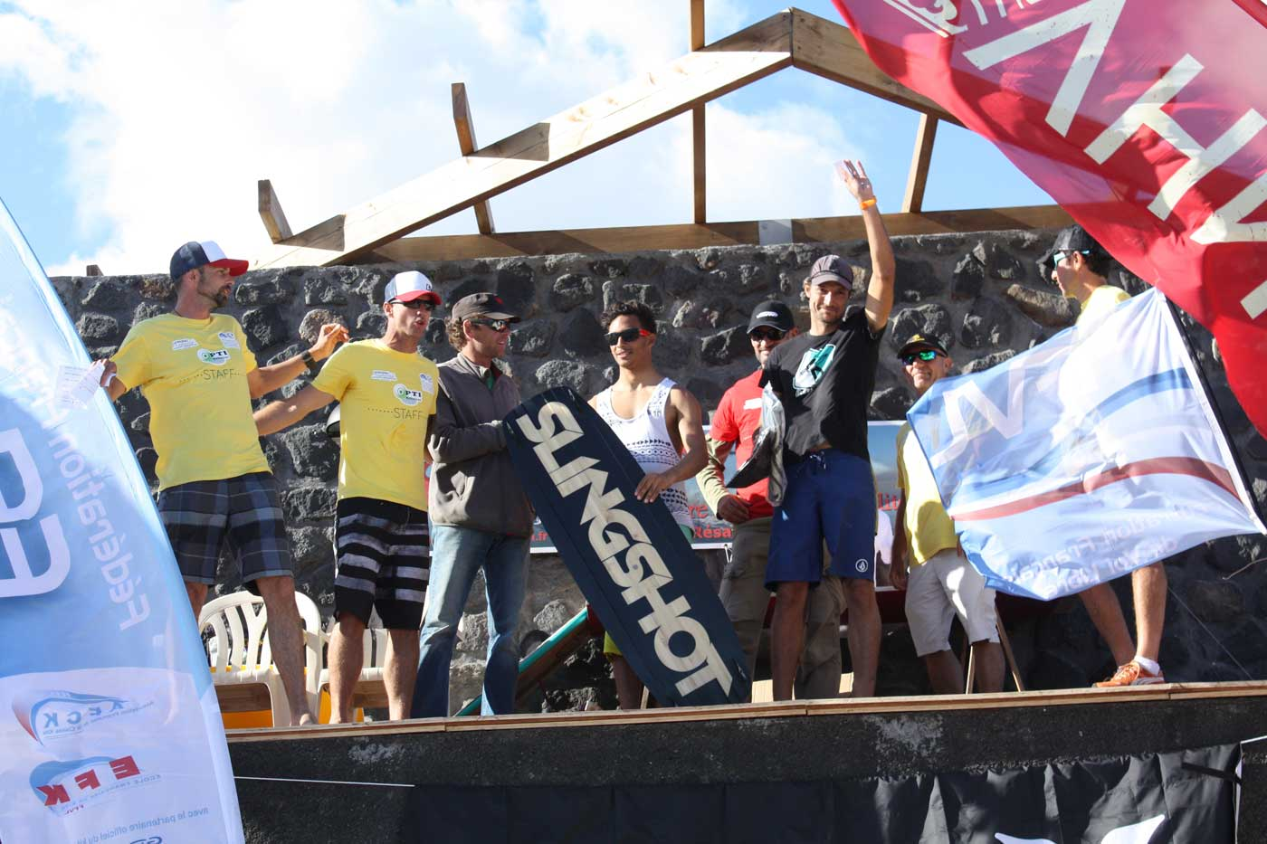 Podium King of the air Kitesurf Réunion septembre 2014