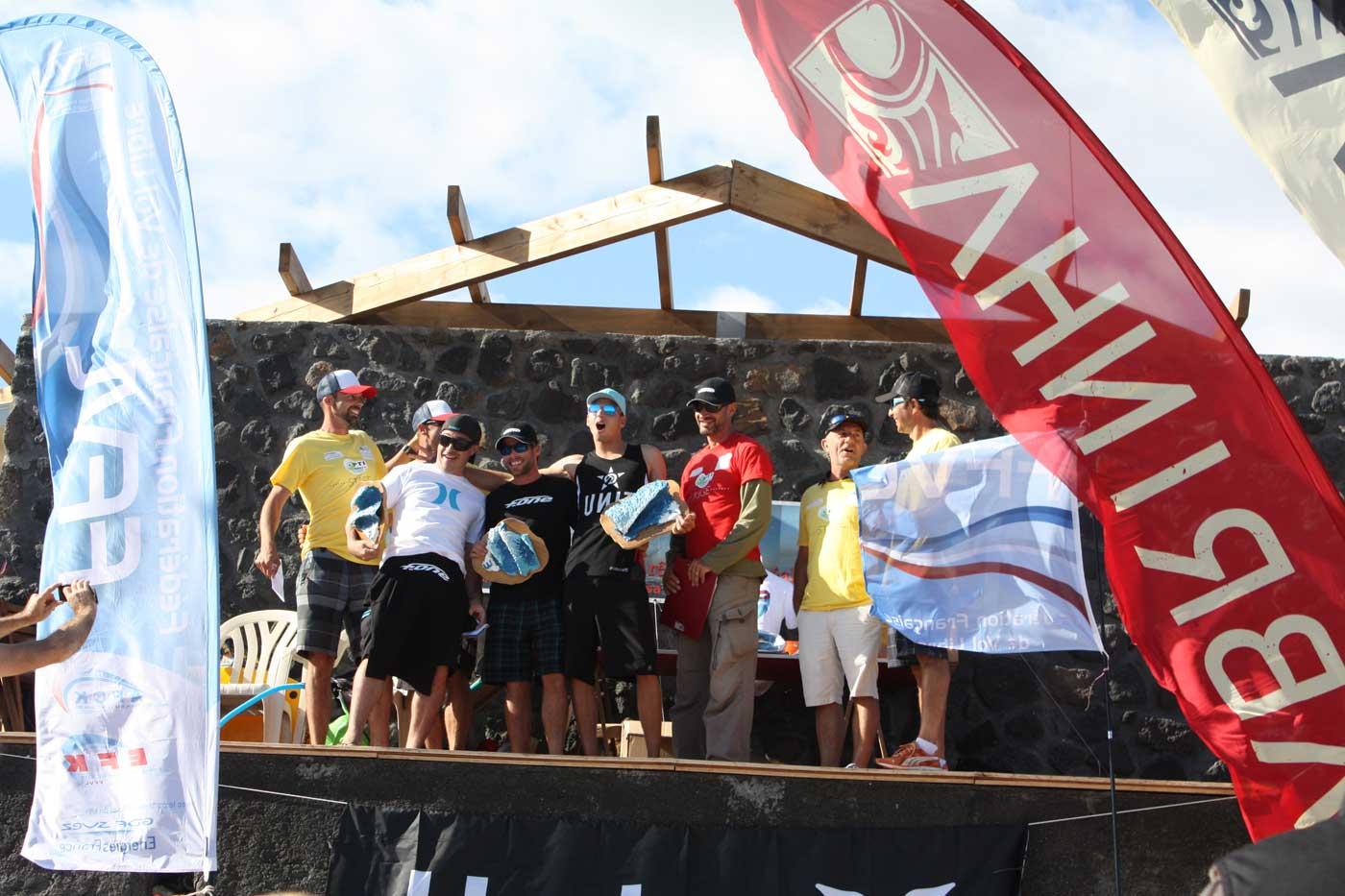 Podium championnat de kitesurf de la Réunion