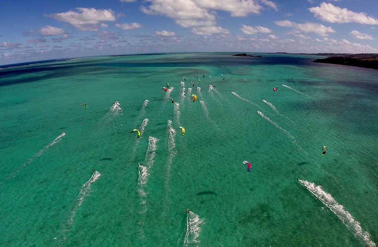 Downwind en Kitesurf à Rodrigues - RIKF